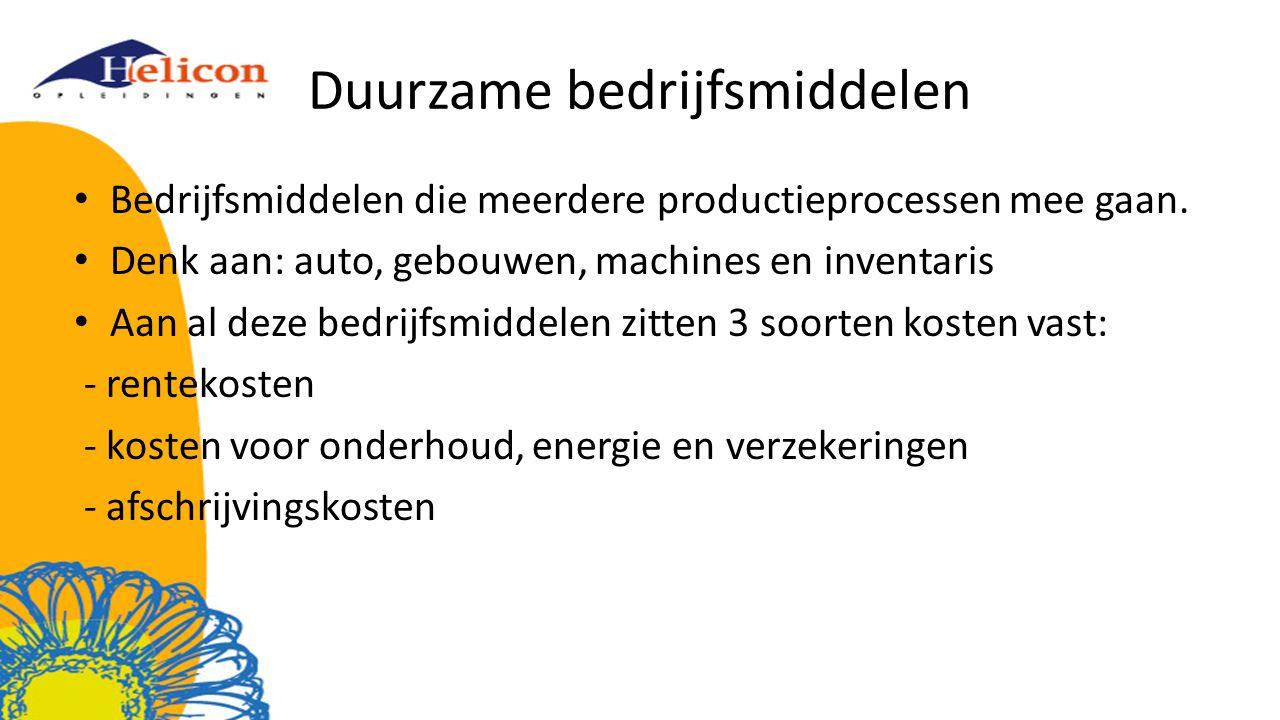 Duurzame bedrijfsmiddelen
