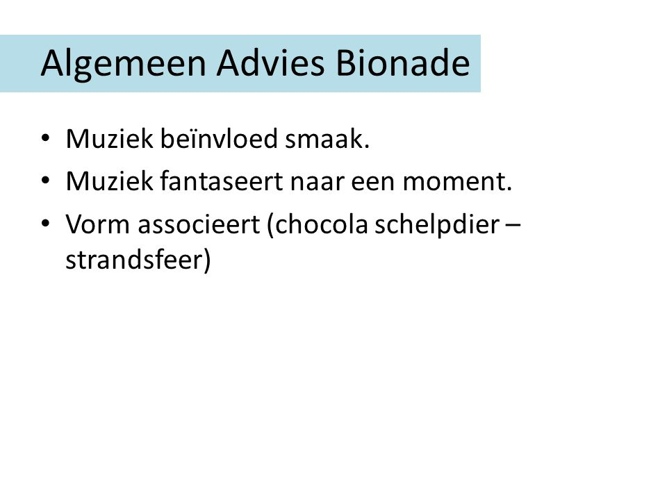 Algemeen Advies Bionade