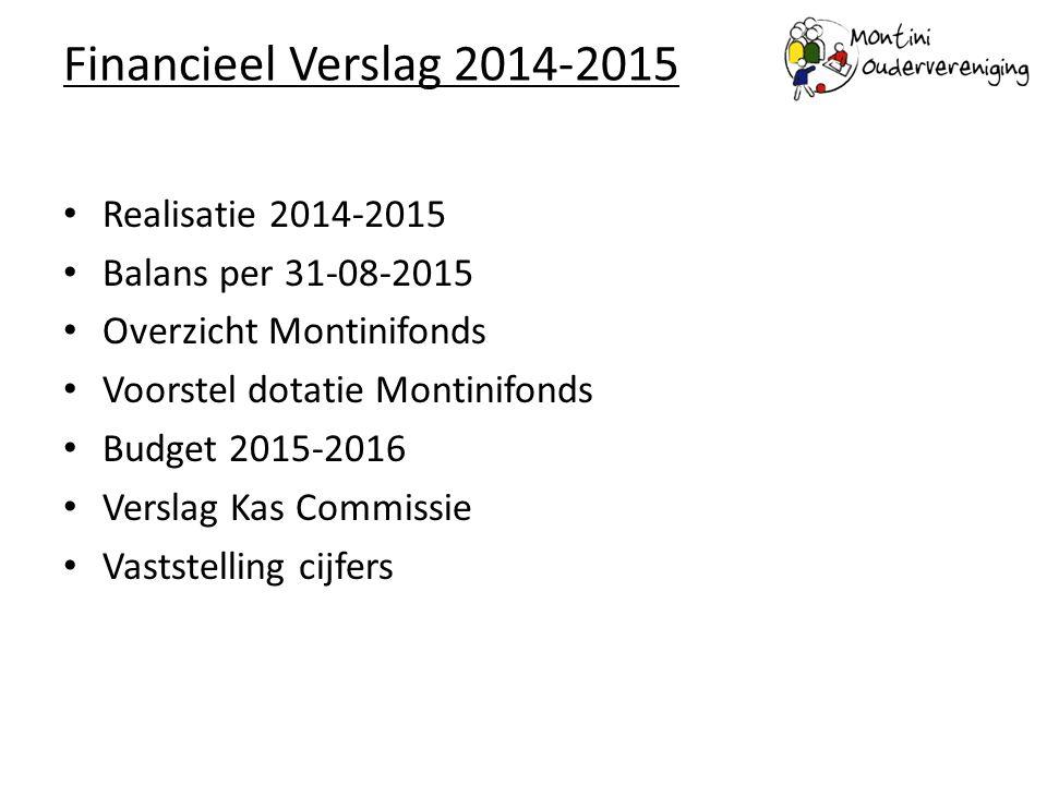 Financieel Verslag 2014-2015 Realisatie 2014-2015