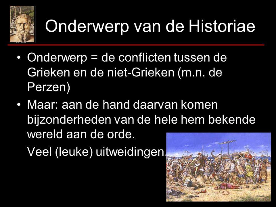 Onderwerp van de Historiae