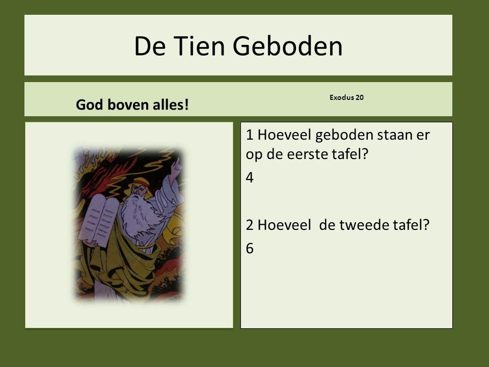 De Tien Geboden God boven alles!
