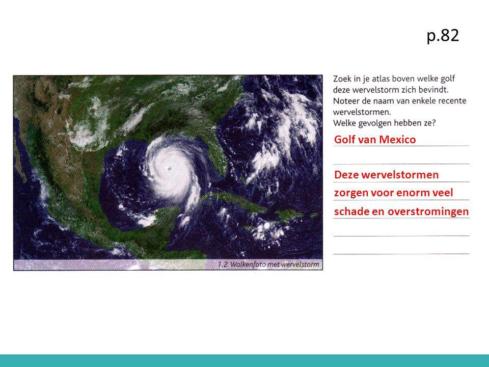 p.82 Golf van Mexico Deze wervelstormen zorgen voor enorm veel