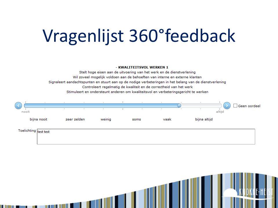 Vragenlijst 360°feedback
