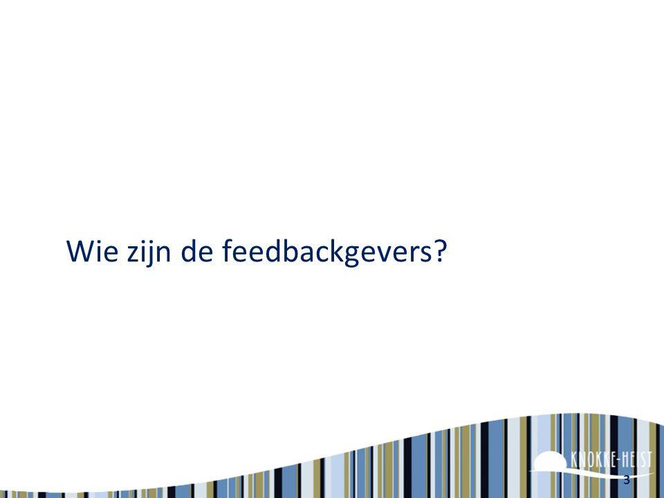Wie zijn de feedbackgevers