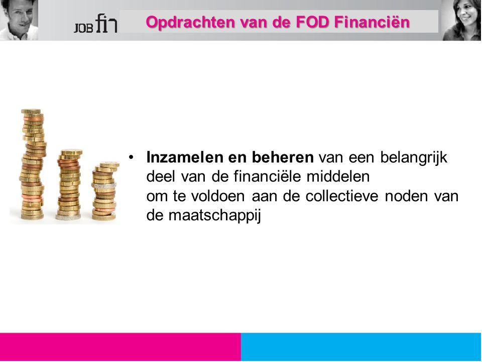 Opdrachten van de FOD Financiën