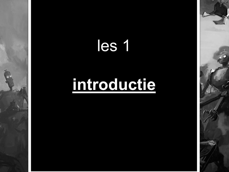 les 1 introductie