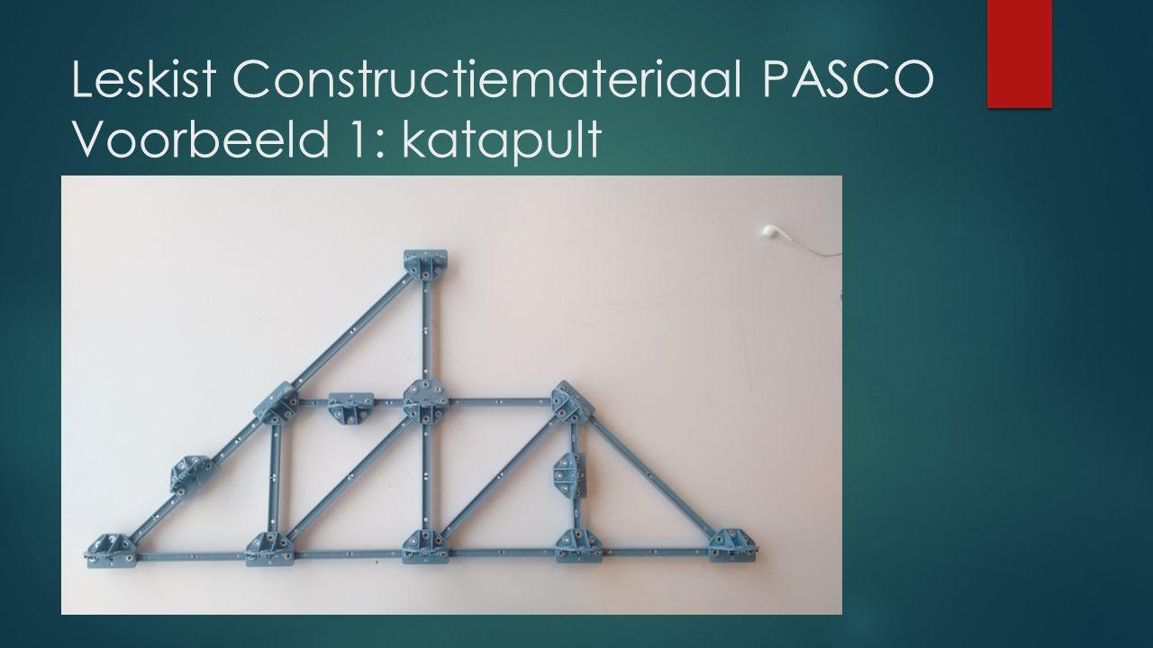 Leskist Constructiemateriaal PASCO Voorbeeld 1: katapult