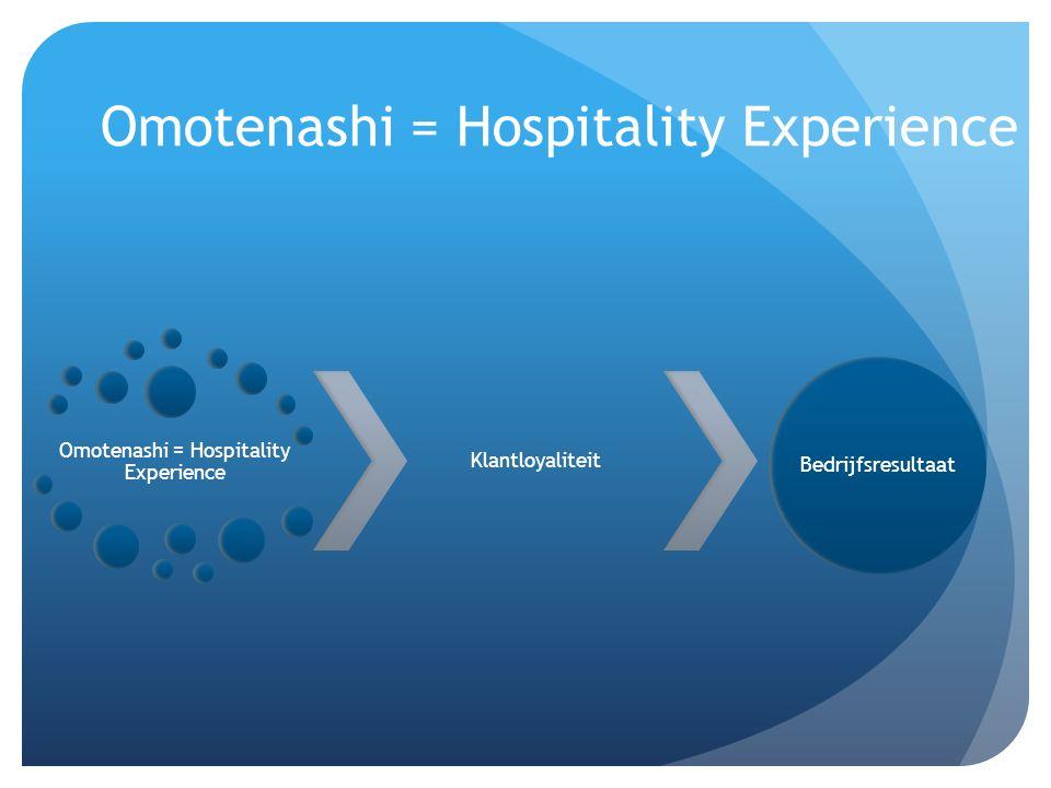 Omotenashi = Hospitality Experience