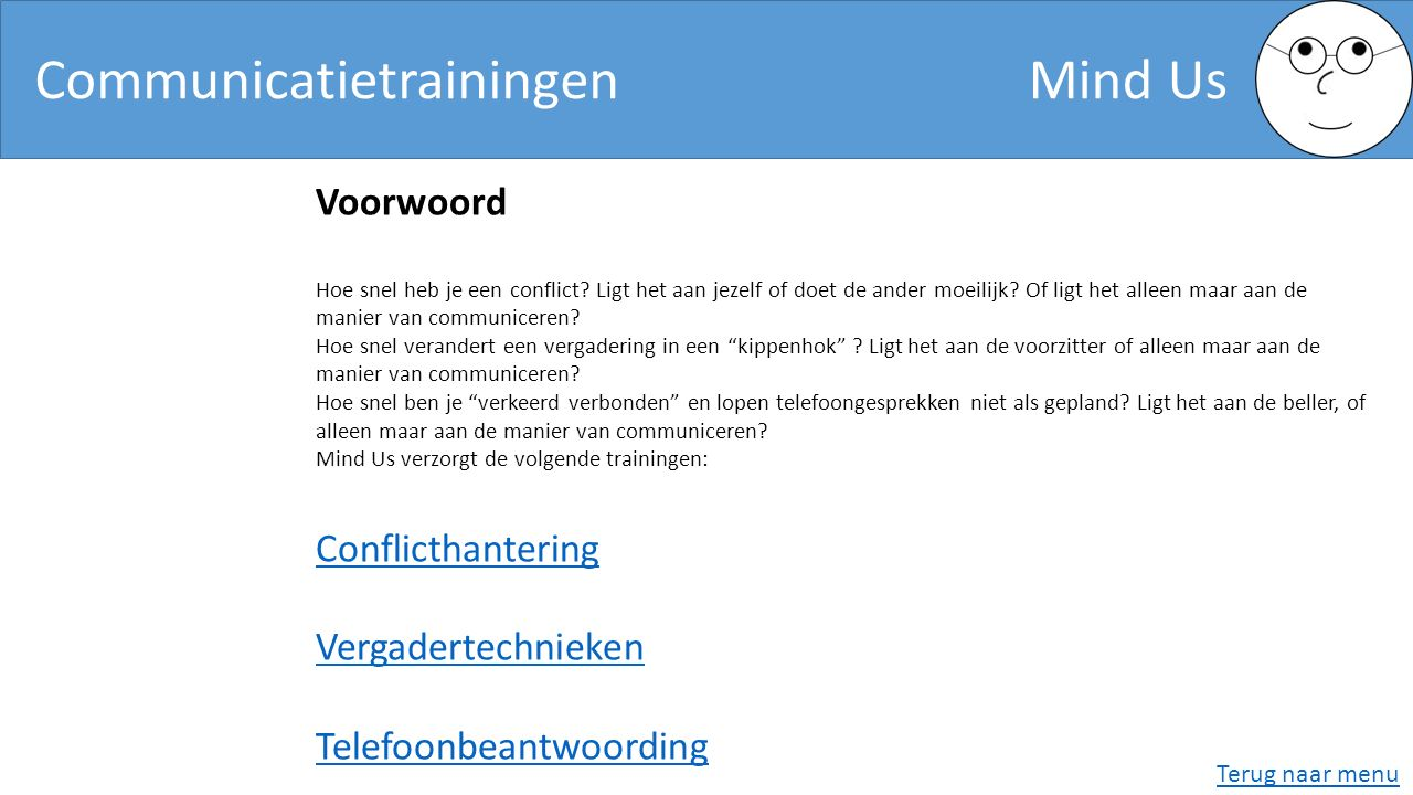 Communicatietrainingen Mind Us