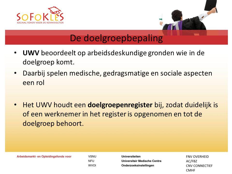 De doelgroepbepaling UWV beoordeelt op arbeidsdeskundige gronden wie in de doelgroep komt.