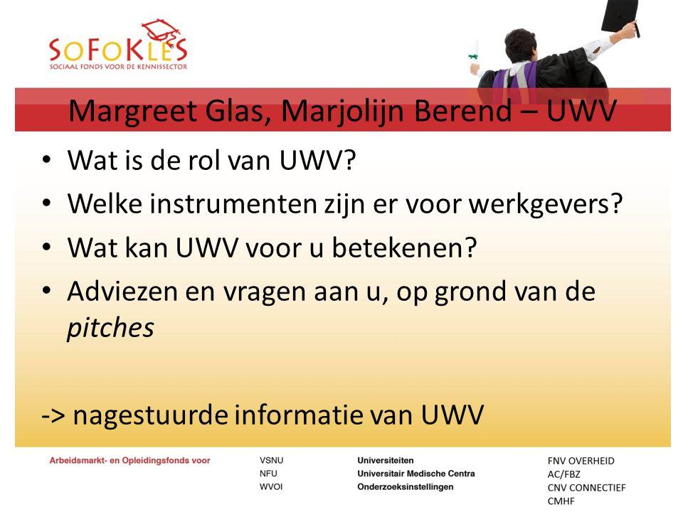 Margreet Glas, Marjolijn Berend – UWV