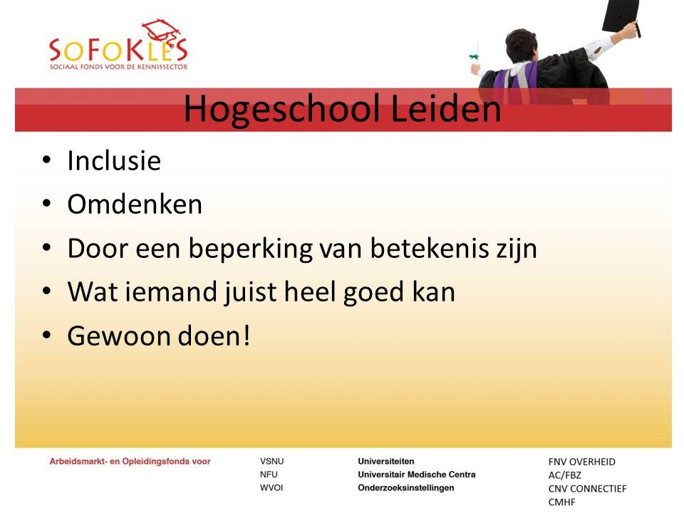 Hogeschool Leiden Inclusie Omdenken