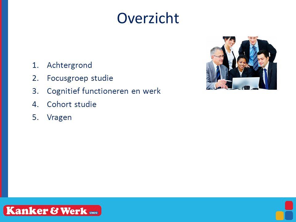 Overzicht Achtergrond Focusgroep studie Cognitief functioneren en werk