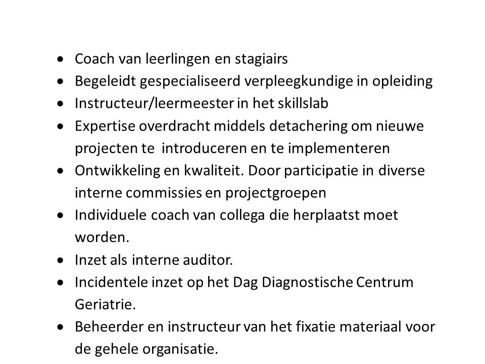 Coach van leerlingen en stagiairs
