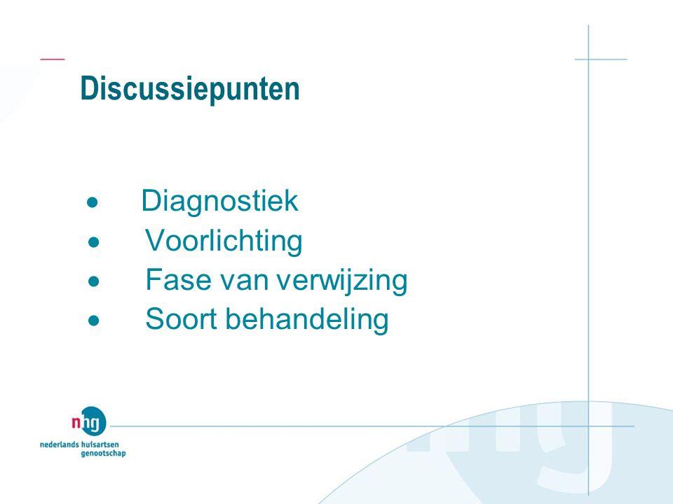 Discussiepunten · Voorlichting · Fase van verwijzing