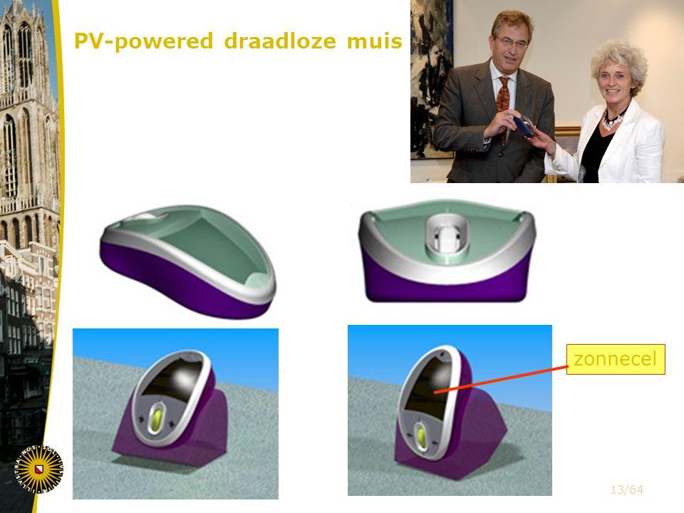 PV-powered draadloze muis