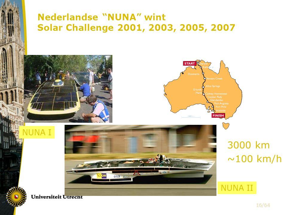 Nederlandse NUNA wint Solar Challenge 2001, 2003, 2005, 2007