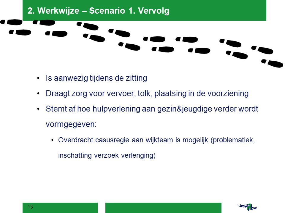 2. Werkwijze – Scenario 1. Vervolg