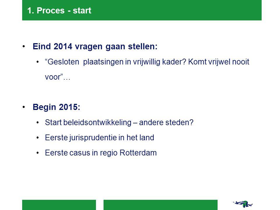 Eind 2014 vragen gaan stellen: