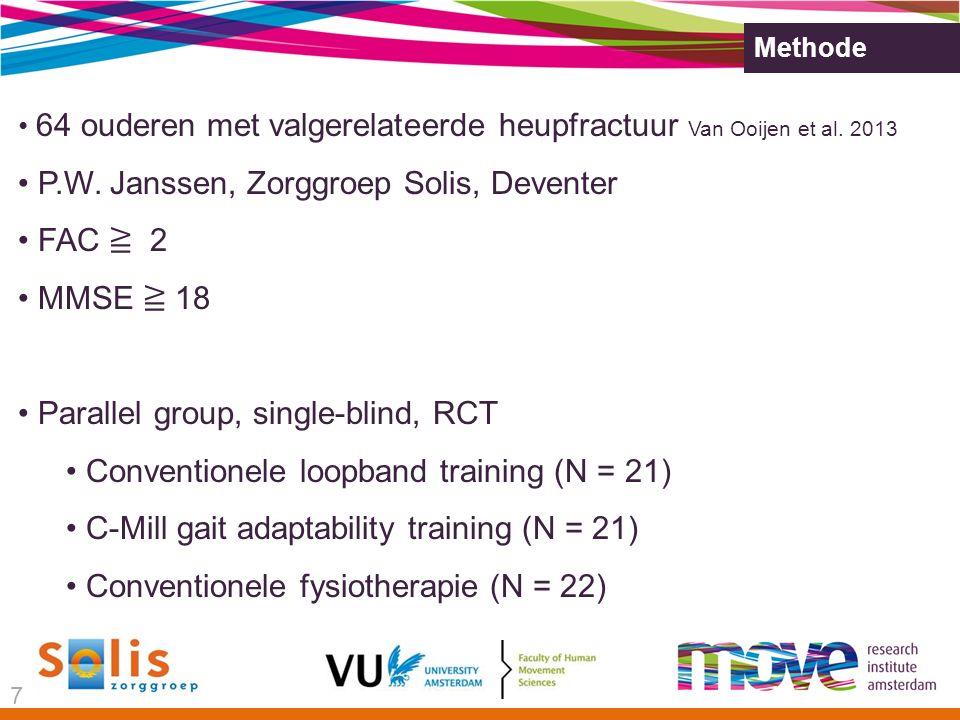P.W. Janssen, Zorggroep Solis, Deventer FAC ≧ 2 MMSE ≧ 18