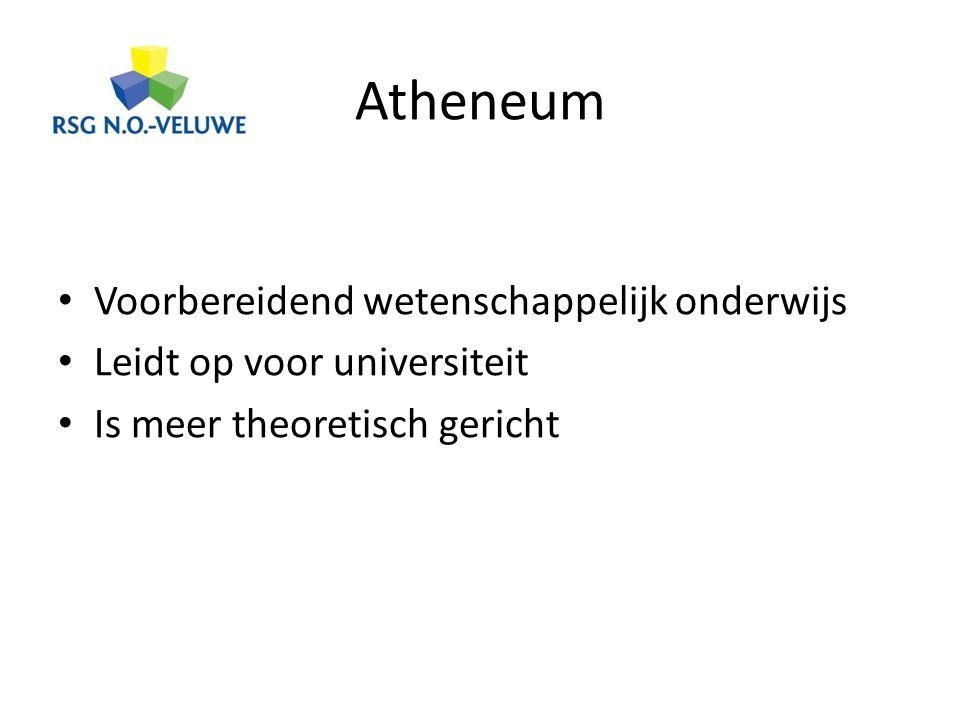 Atheneum Voorbereidend wetenschappelijk onderwijs