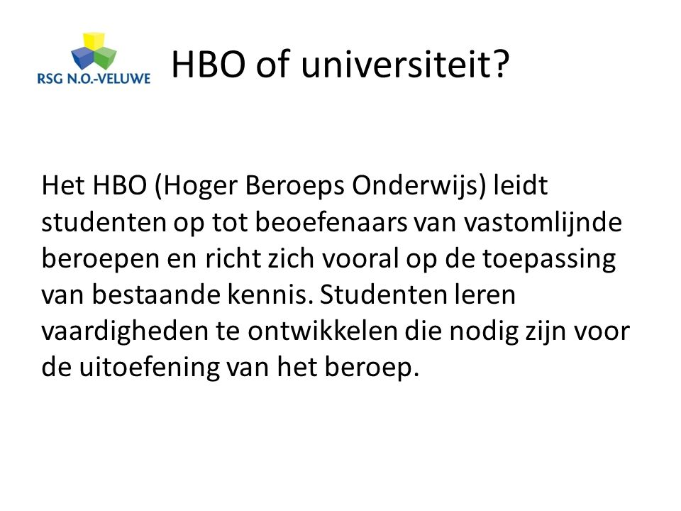 HBO of universiteit