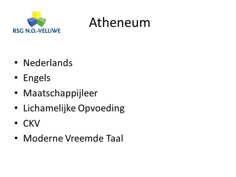 Atheneum Nederlands Engels Maatschappijleer Lichamelijke Opvoeding CKV