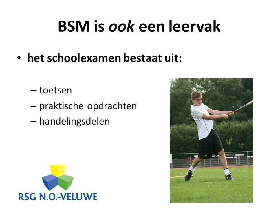 BSM is ook een leervak het schoolexamen bestaat uit: toetsen