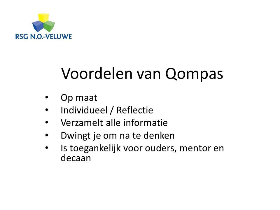 Voordelen van Qompas Op maat Individueel / Reflectie