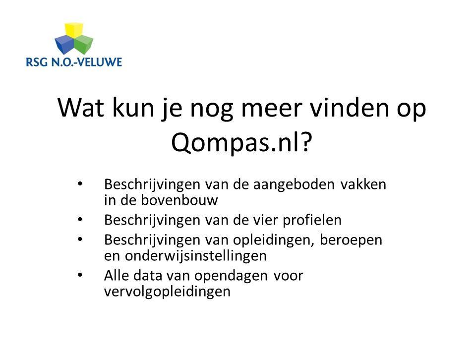 Wat kun je nog meer vinden op Qompas.nl