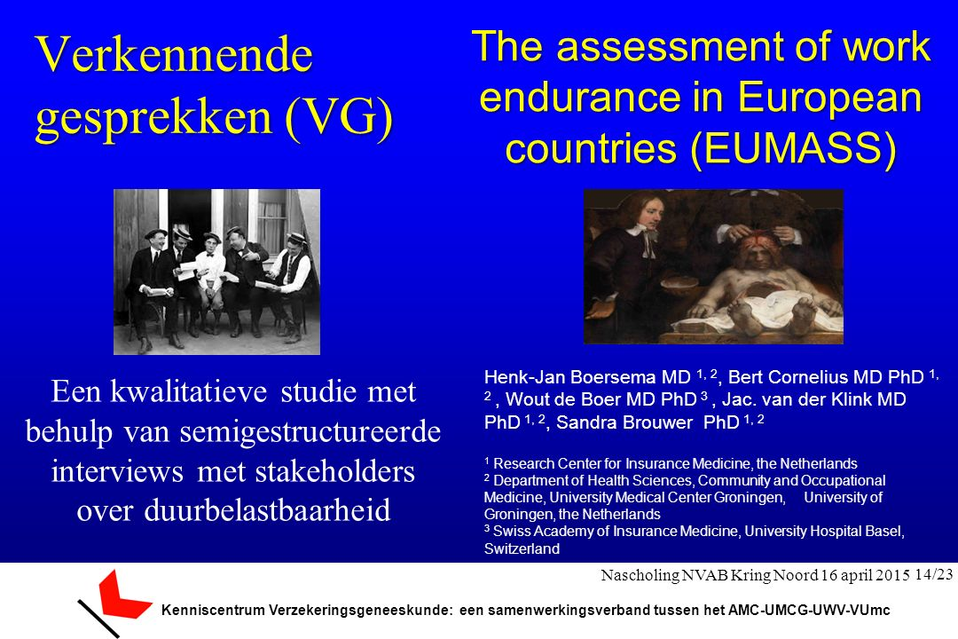 The assessment of work endurance in European countries (EUMASS)