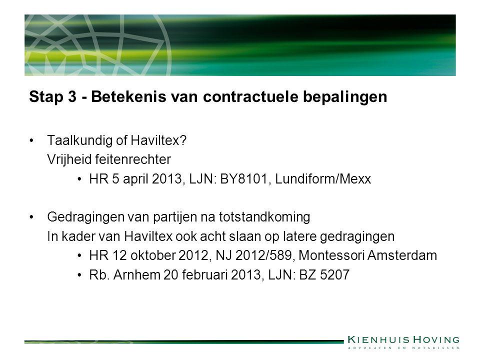 Stap 3 - Betekenis van contractuele bepalingen
