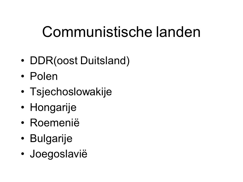 Communistische landen