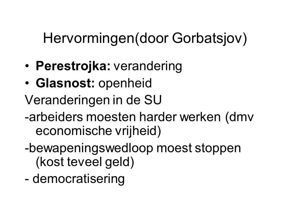 Hervormingen(door Gorbatsjov)