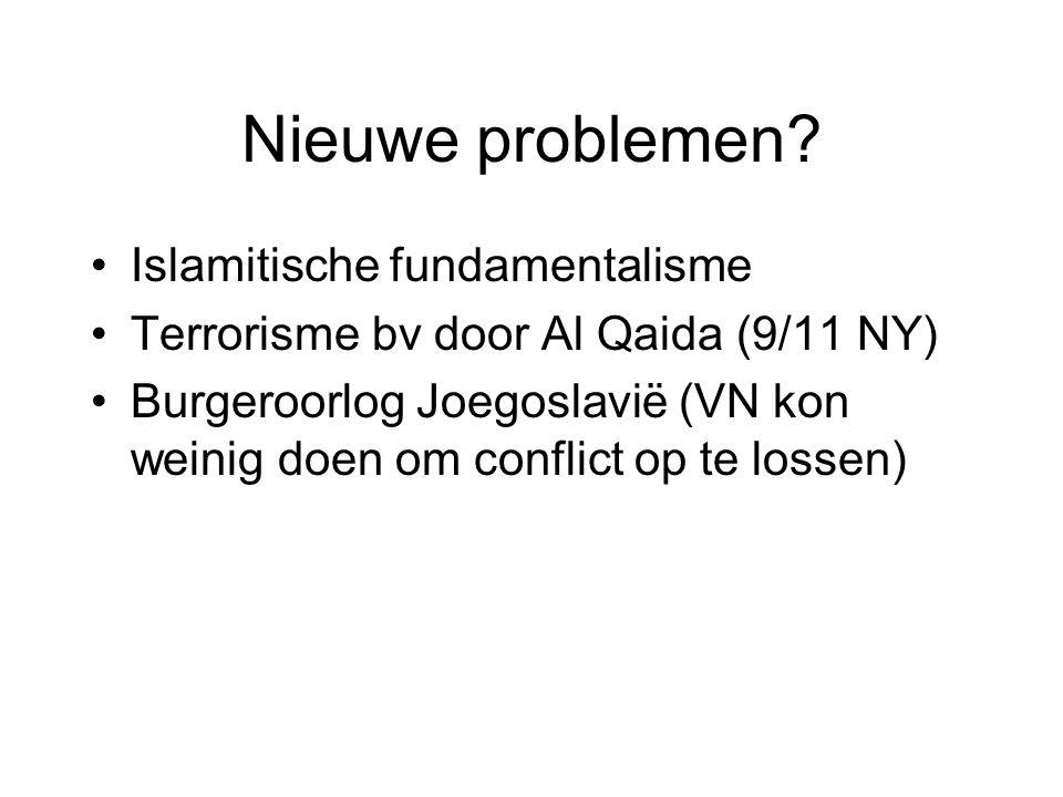 Nieuwe problemen Islamitische fundamentalisme