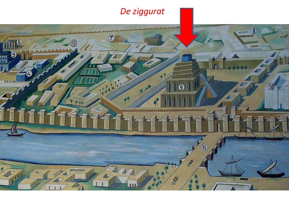 De ziggurat Babylon rond 600 v. Chr.