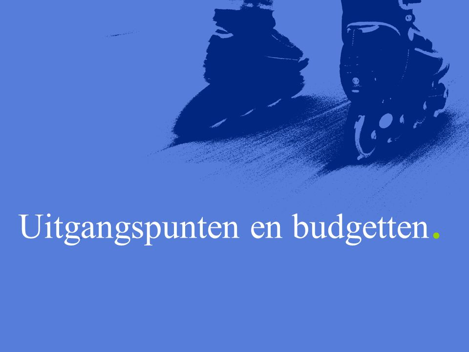 Uitgangspunten en budgetten.