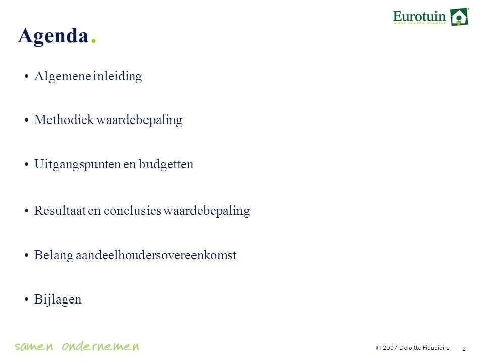Agenda. Algemene inleiding Methodiek waardebepaling