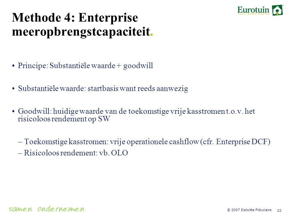 Methode 4: Enterprise meeropbrengstcapaciteit.