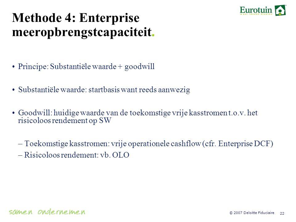 Methode 4: Enterprise meeropbrengstcapaciteit.