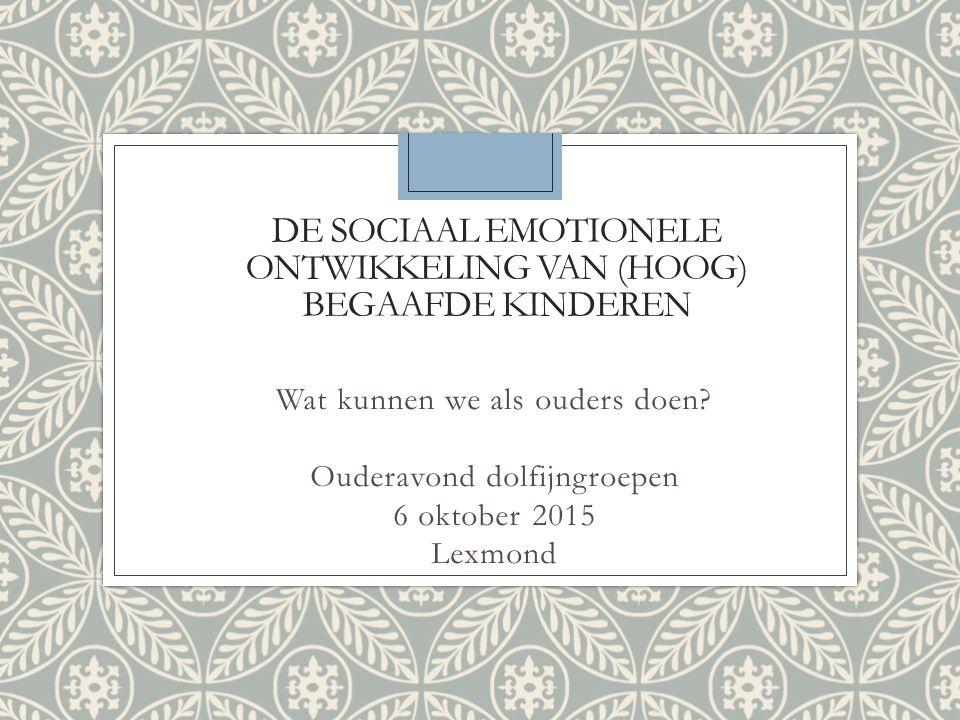 De sociaal emotionele ontwikkeling van (hoog) begaafde kinderen