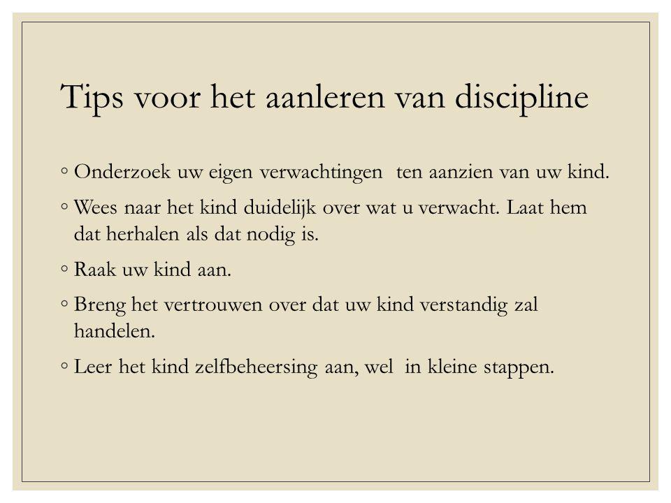 Tips voor het aanleren van discipline