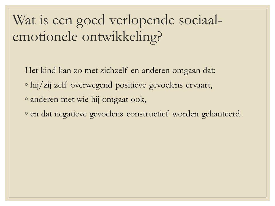 Wat is een goed verlopende sociaal-emotionele ontwikkeling