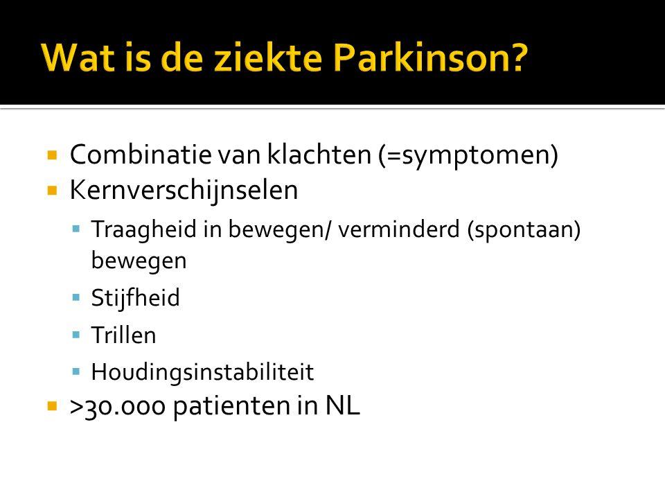 Wat is de ziekte Parkinson