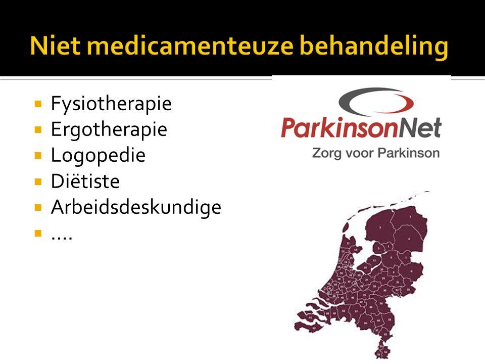 Niet medicamenteuze behandeling