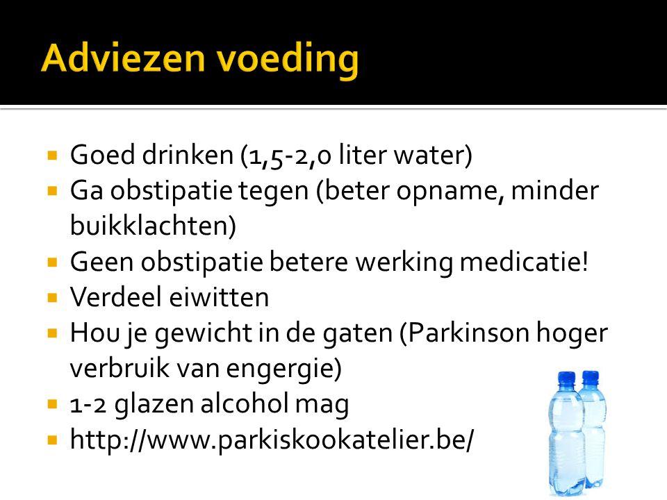 Adviezen voeding Goed drinken (1,5-2,0 liter water)