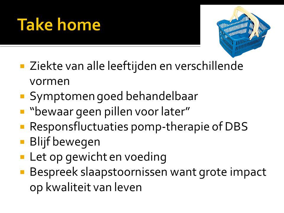 Take home Ziekte van alle leeftijden en verschillende vormen