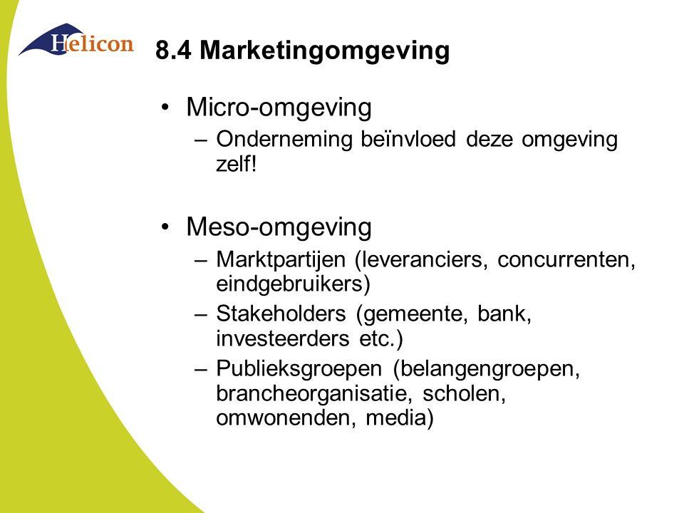 8.4 Marketingomgeving Micro-omgeving Meso-omgeving