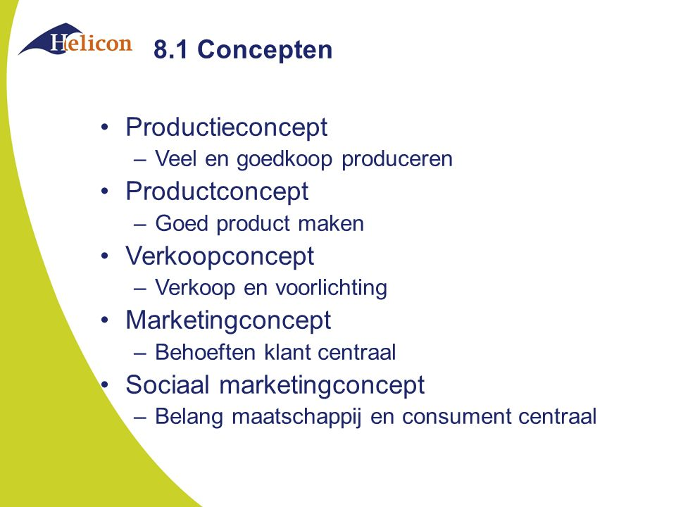 Sociaal marketingconcept