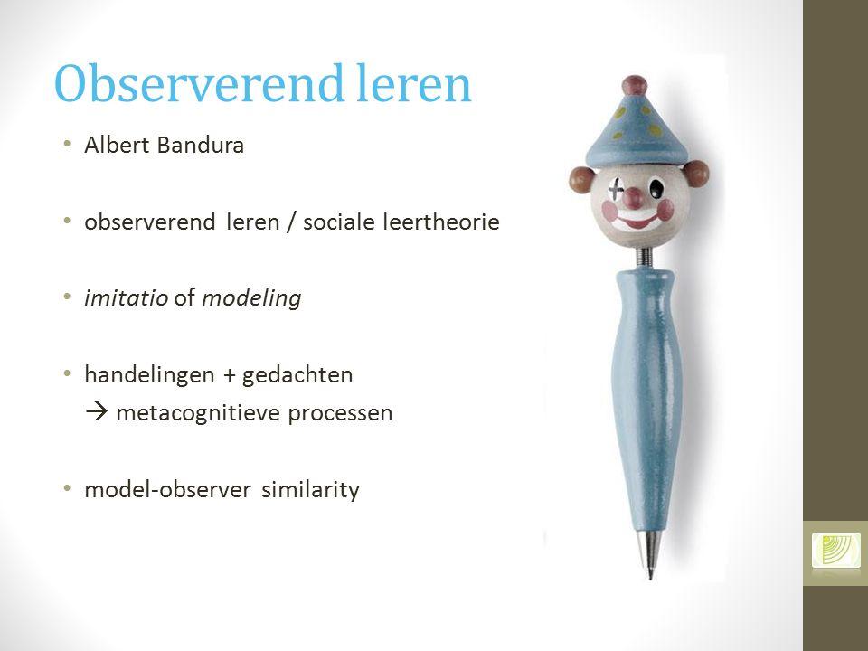 Observerend leren Albert Bandura